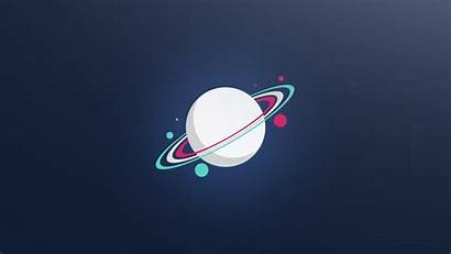 Minimal Planet Ring System Minimalist Wallpapers Planets
