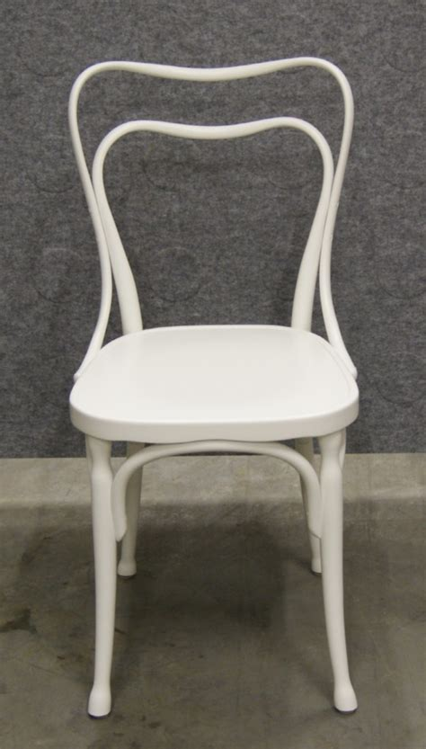 thonet white cafe solid seat bentwood dining chair s ebay