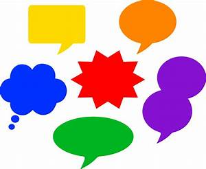 Colorful Comic Style Speech Balloons - Free Clip Art