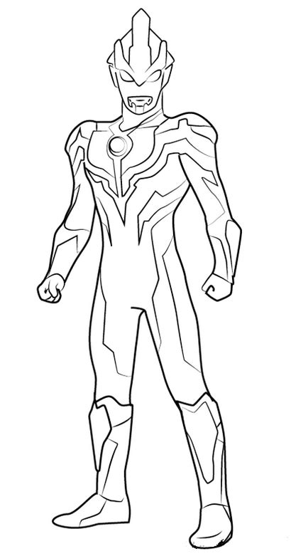 epic ultraman ginga coloring sheet fantastic ultraman