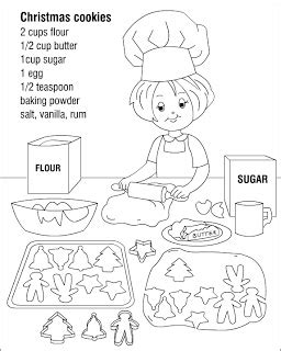 A sugar cookie contains flour, eggs, sugar, vanilla, shortening and baking soda. Nicole's Free Coloring Pages: Christmas cookies * coloring ...
