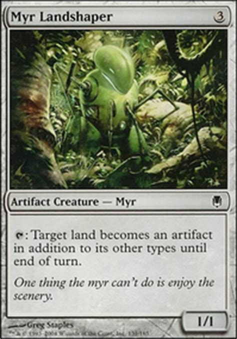 myr commander deck mtg 4c land commander edh mtg deck