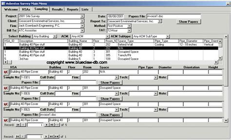 asbestos survey software asbestos inspection