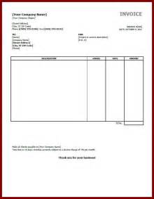 Tax Invoice Template Excel Simple Invoice Template Word Document Hardhost Info