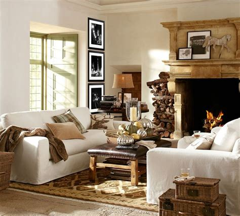 fall living room pottery barn living rooms