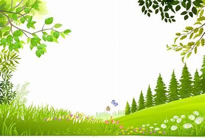 Grass Cartoon Transparent Nature Clipart Trees Plants