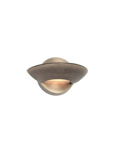 Applique Luce applique design contemporaneo 1 luce lumina brunito