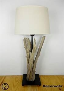 Lampe Chevet Bois Flotté : lampe de chevet bois flott bord de mer 2 ~ Teatrodelosmanantiales.com Idées de Décoration