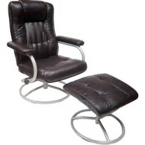 mainstays swivel recliner with ottoman brown walmart com
