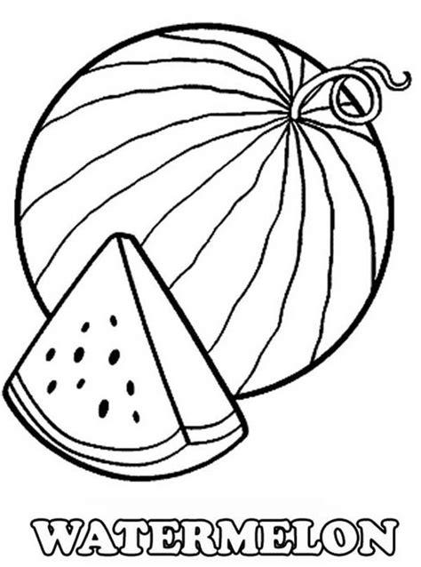 slice  fresh watermelon coloring page watermelon