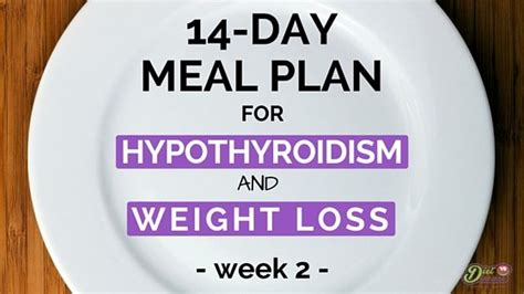 day meal plan  hypothyroidism  weight loss week