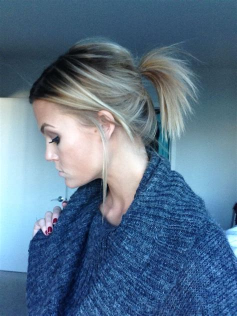 ponytail short hairstyles  women hairdo hairstyle