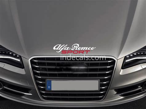 2 X Alfa Romeo Sports Mind Stickers Xl