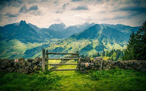 landscape spring mountains  mountainous villages