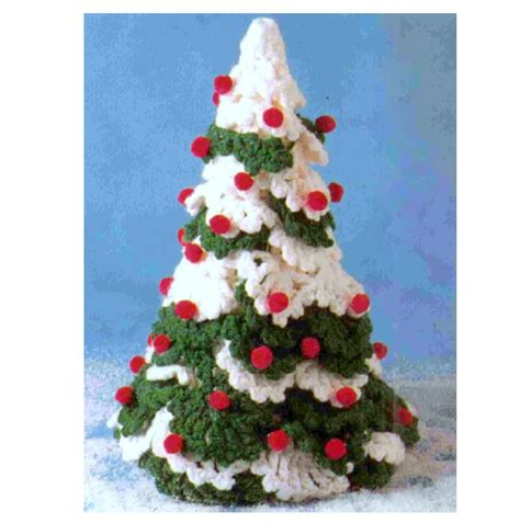 vintage crochet pattern christmas tree holiday decorations