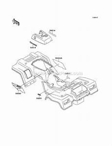 Kawasaki Klf220-a13 Parts List And Diagram