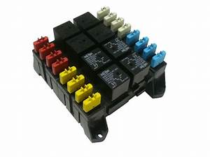 Atc Ato Blade Fuse And Mini Relay Block Panel Holder 12v