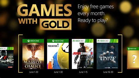 Gamis Gold xbox live gold les jeux du mois de juin sur xbox one et
