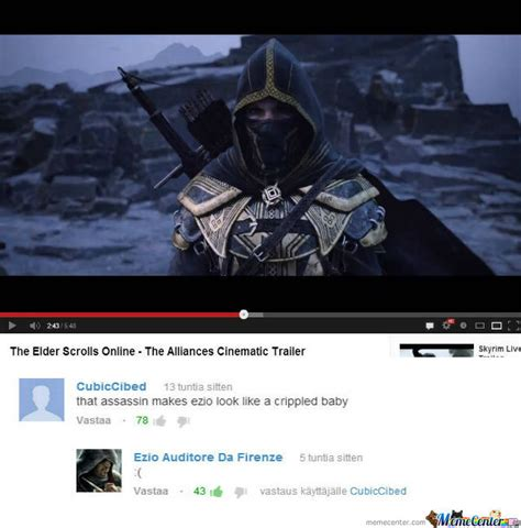 Elder Scrolls Online Memes - that assassin elder scrolls online by akumazer meme center