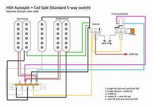 Question  Hsh Wiring With A 5 Way Switch  1 Vol  1 Push Pull Tone   Guitar