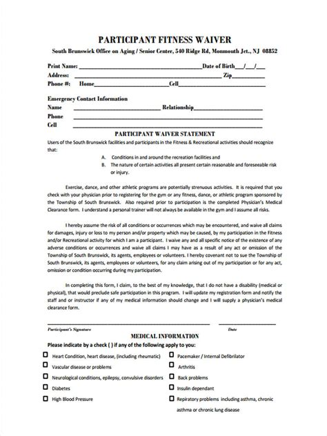 8 Generic Waiver Forms  Free Sample, Example Format Download