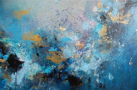 Abstract Canvas Wallpaper by Original Abstract Painting Blue Abstract Painting Modern