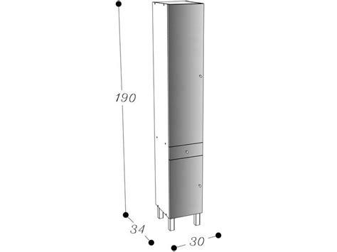 colonne cuisine 30 cm colonne de salle de bain 2 portes 1 tiroir soramena coloris blanc vente de armoire colonne