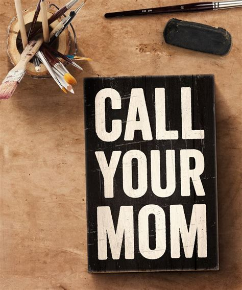 call  mom reclaimed solid wood mothers day art