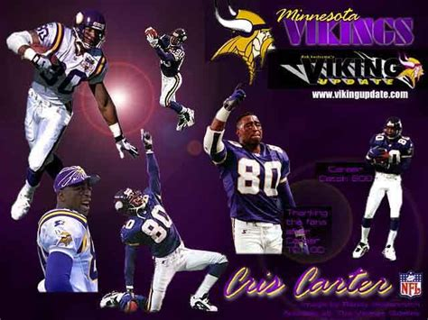 cris carter  favorite viking player hall  fame