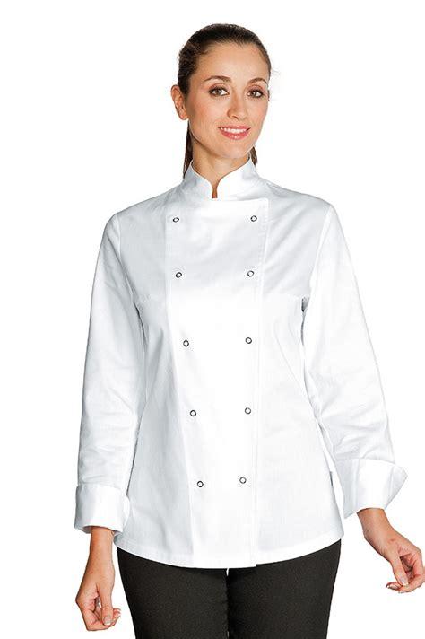 veste cuisine femme pas cher veste de cuisine femme esmeralda blanc 100 coton