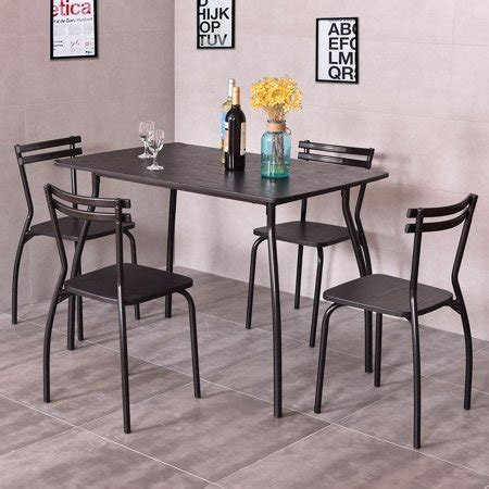 Dining Room Sets Cheap by Costway 5 Dining Set Table And 4 Chairs Home Kitchen