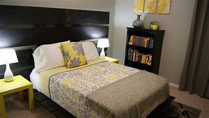 Living small yellow and gray bedroom update for Yellow and gray bedroom