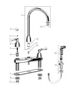 repair american standard kitchen faucet order replacement parts for american standard 4271 standard collection two handle top mount
