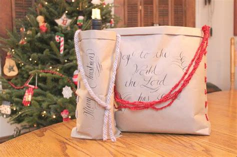 homemade christmas favors for adults craft paper and yarn diy gift bag allfreechristmascrafts