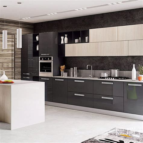 china modern simple wood modular kitchen cabinet indoor