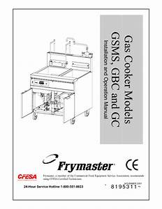 Gas Cooker Gc Manuals