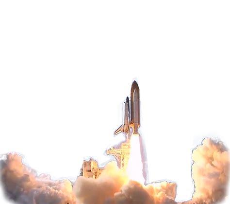 Space Shuttle launch transparent background PNG web design graphics