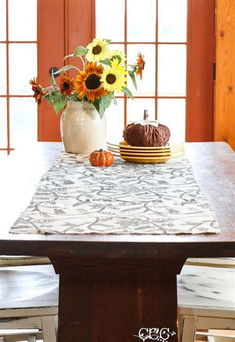fall table runners to make how to make a no sew burlap table runner for fall hometalk