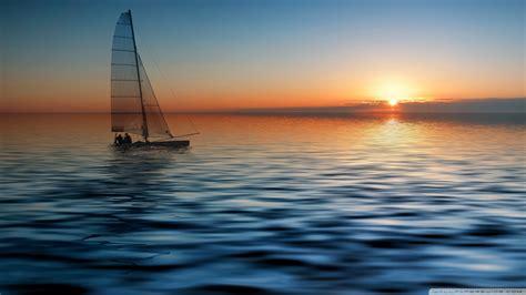 Sailboat At Sea by Boat At Sea Wallpaper 1920x1080 Wallpoper 443134