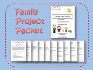 printable family projects for preschool and kindergarten 642 | monthly family projects