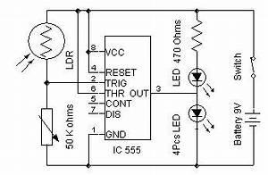 automatic street light With simple white led night light ledandlightcircuit circuit diagram