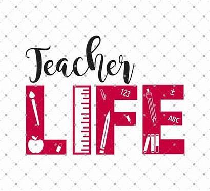 Teacher Svg Cut Vinyl Cricut Silhouette Clipart