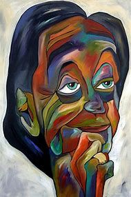 Face Abstract Art Paintings
