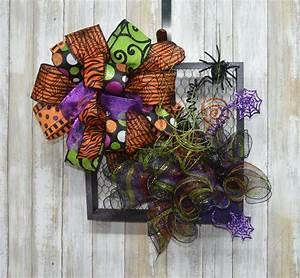 Chicken, Wire, Frame, Halloween, Wreath, Halloween, Wreath, Spider