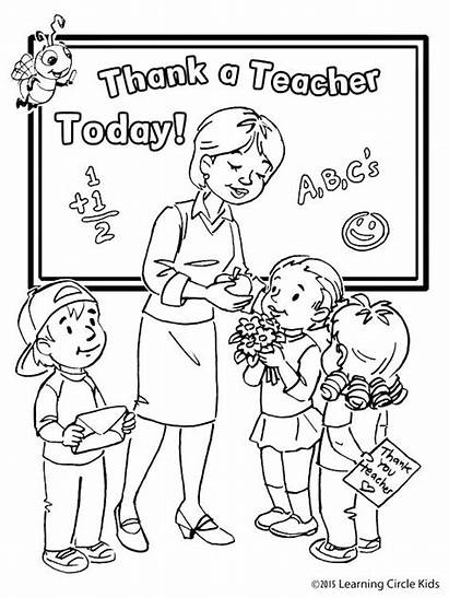 Teacher Thank Coloring Pages Printable Getcolorings