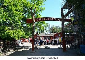 the free state of christiania in copenhagen denmark Stock ...