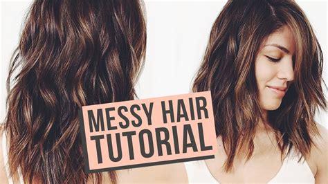 messy waves hair tutorial youtube beauty