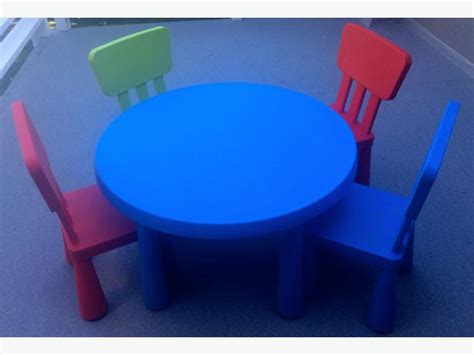table and 4 chair set from ikea mammut series oak