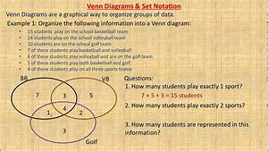 Venn Diagrams And Set Notation