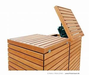 Mülltonnenbox Holz Anthrazit : angebot 2er 3er m lltonnenbox hartholz 120 240 liter ~ Whattoseeinmadrid.com Haus und Dekorationen